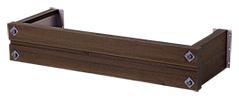 ウォールアクセサリー フラワーボックス ウインポッシュ 3尺品 ダニッシュブラウン