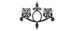 ウォールアクセサリー 妻飾り 森のふくろうタイプ ブラック