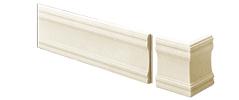 外装部材アウティ GLシリーズ 押出し幕板 ラフティホワイト