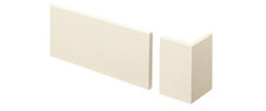 外装部材アウティ GLシリーズ 押出し付柱 ラフティホワイト